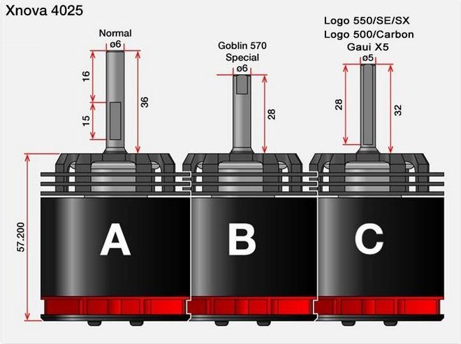 4025 shaft sizes