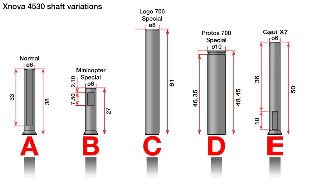 X4530 shafts